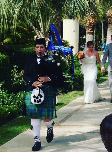 Bagpiper for hire Destination Weddings